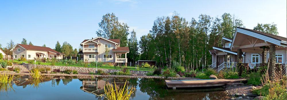 Продажа коттеджей на берегу озера в Ленобласти